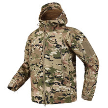 Shark Skin Soft Shell Tactical Military Jacket Men Fleece Waterproof Army Clothing Multicam Camouflage Windbreakers Men