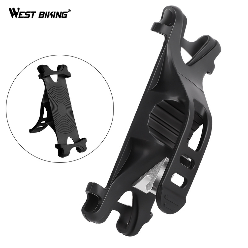 WEST BIKING <font><b>Bike</b></font> Bicycle <font><b>Phone</b></font> <font><b>Holder</b></font> For Cycling <font><b>Bike</b></font> <font><b>Phone</b></font> <font><b>Holder</b></font> Bicycle Goods Mount Bracket Cycling Accessories Silica Gel image