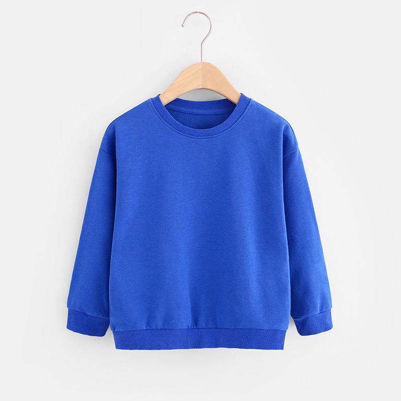 Kids Boys Solid Color T-shirts Sweatshirt Tops Baby Long Sleeve Children Autumn Spring Boy Girl Cotton T Shirts Clothes 4