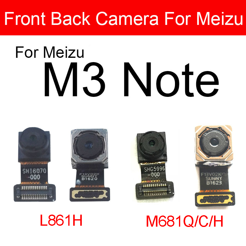 Front & Rear Camera For Meizu M3 Note L861H M681Q M681C M681H Main Back Big Camera Module Small Camera Flex Ribbon Cable Parts
