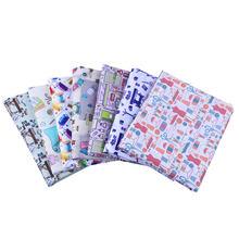 50*140cm máquina de costura poliéster algodão tecido patchowor impresso para tecido crianças têxteis para casa costura boneca vestido cortina