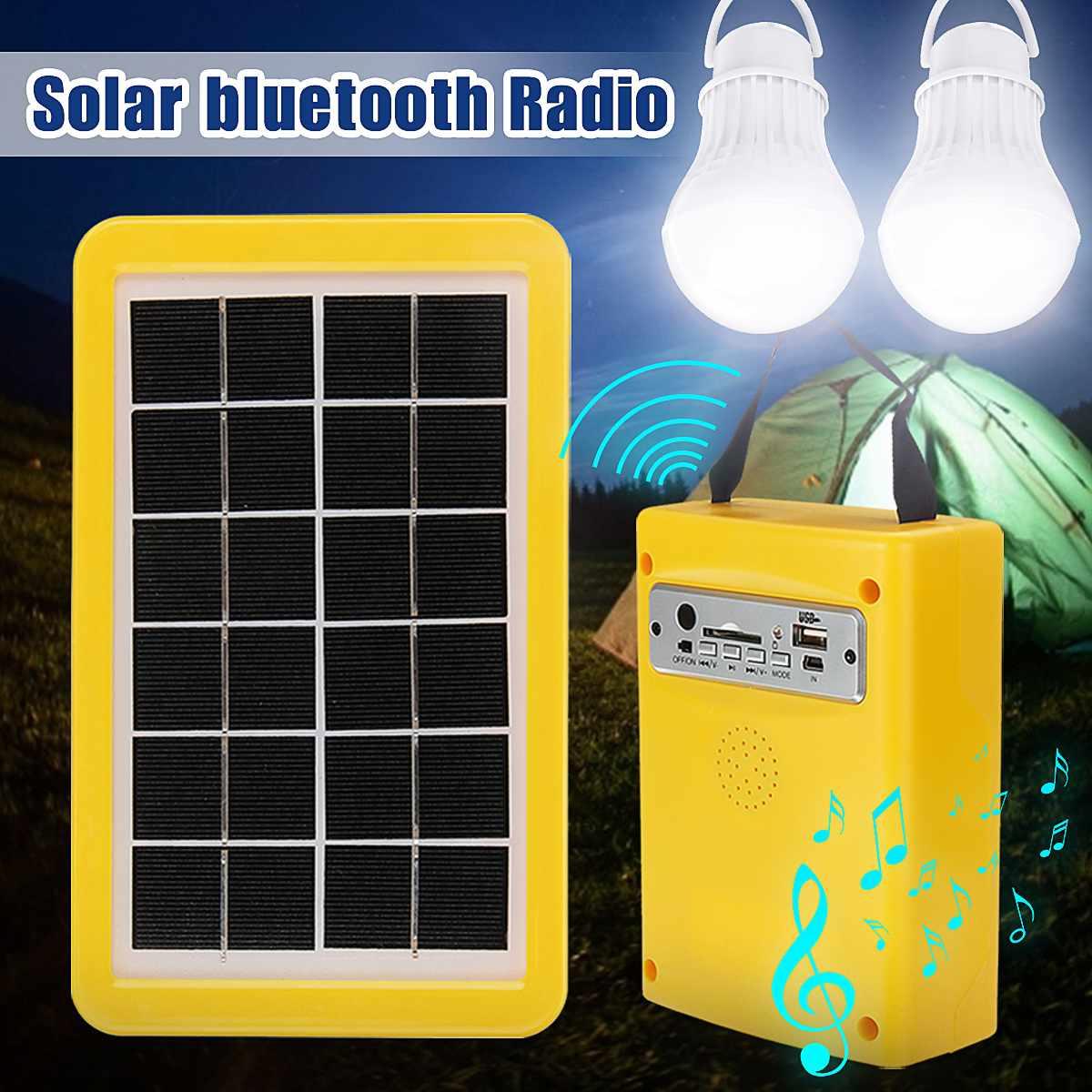 paineis solares portateis sistema de carregamento gerador energia casa ao ar livre iluminacao para 2 lampada