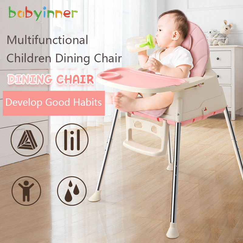 Baby Inner Baby Dining Chair Multi-functional Foldable Portable Children Eating Table Infant Plastic Dining Tables And Chairs