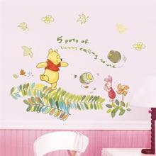 disney winnie pooh wall stickers bedroom home decor 40*60cm cartoon animals zoo decals diy mural art pvc wallpaper