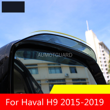 цена на Car Rearview Mirror Rain Eyebrow PC Material Mirror Rain Eyebrow Car Decoration Accessories For Haval H9 2015-2020