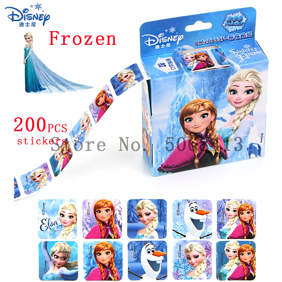HOT 200pcs Disney Princess Sophia Frozen 2 Sticker Princess Scrapbooking For Kids Decor Diary Notebook Decoration Toy Stickers