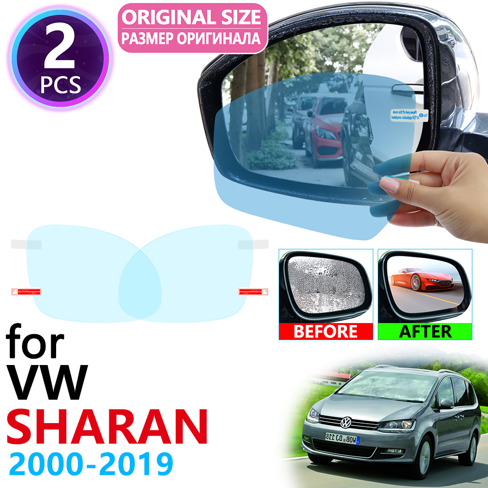 For Volkswagen VW Sharan 7M 7N 2000~2019 Full Cover Rearview Mirror Anti-Fog Films Rainproof Anti Fog Film Clean Car Accessories