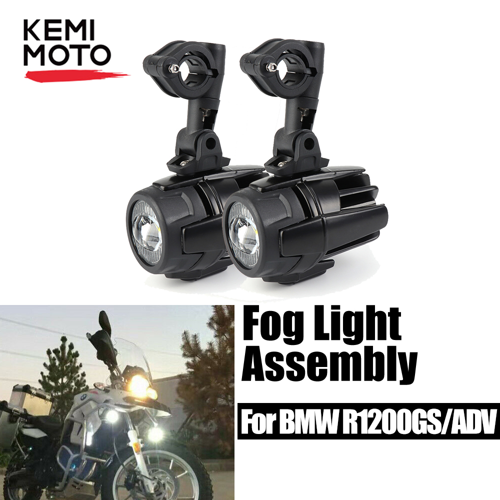 KEMiMOTO For BMW R1200GS Motorcycle LED Auxiliary Fog Light Assemblie Driving Lamp 40W For BMW R 1200 GS F800GS F700GS 2013-2016
