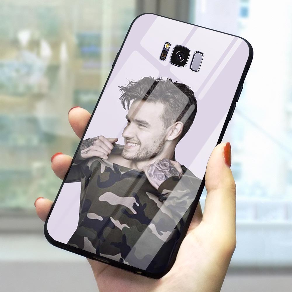 Colorful 1D Liam Payne Tempered Glass Phone Cover for Samsung Galaxy S10 Case A70 A60 M40 A50 A40 A20 A30 A10 S7 Edge S8 S9 Plus image