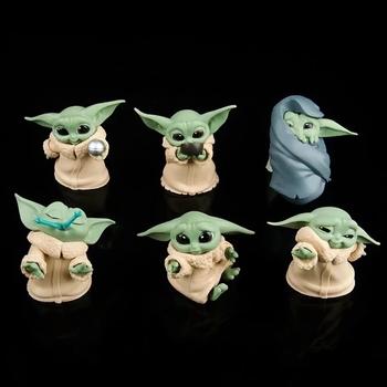Gorący Disney film gwiezdne wojny dziecko Yoda zabawki figurki akcji 5-6cm gwiezdne wojny Yoda dziecko zabawkowe figurki z Anime Yoda dzieci świąteczne prezenty tanie i dobre opinie Model Dla osób dorosłych 12 + y CN (pochodzenie) Unisex star wars yoda baby figure toy about 5-6CM lalki PIERWSZA EDYCJA