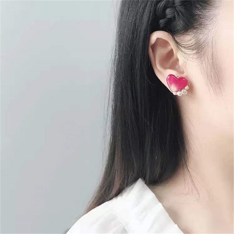 customized earings   mens earrin  stud earring  Flowers court earrings Handmade Immortal flower drops glue ear nail Ear clip