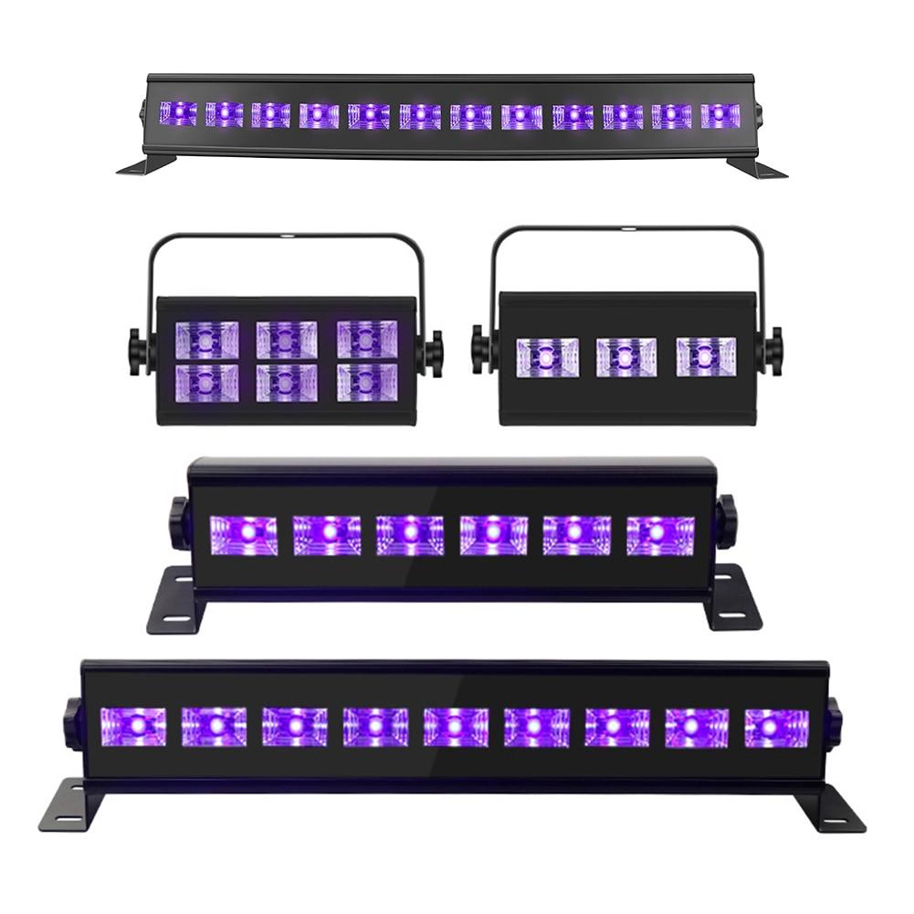 Waterproof Effect Lamp Halloween Christmas Club Bright Party Holidays Decoration Bar Home Purple UV LED DJ Disco Stage Light
