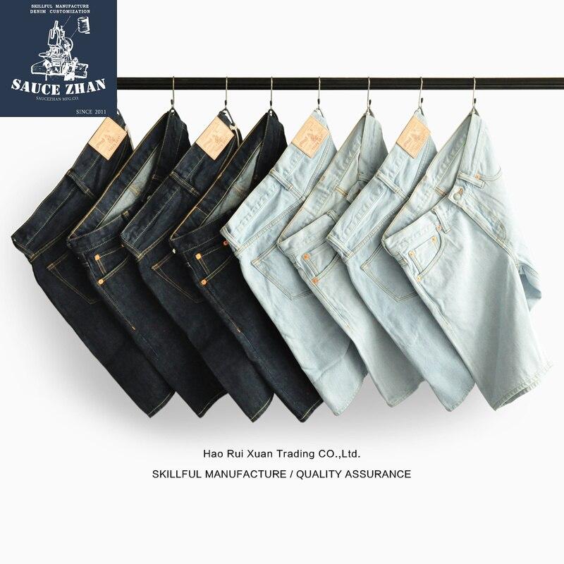 SauceZhan Shorts Jeans Original Men's Jeans  Selvedge Jeans Jeans Raw Denim Jeans Summer Casual Shorts Men Free Shipping