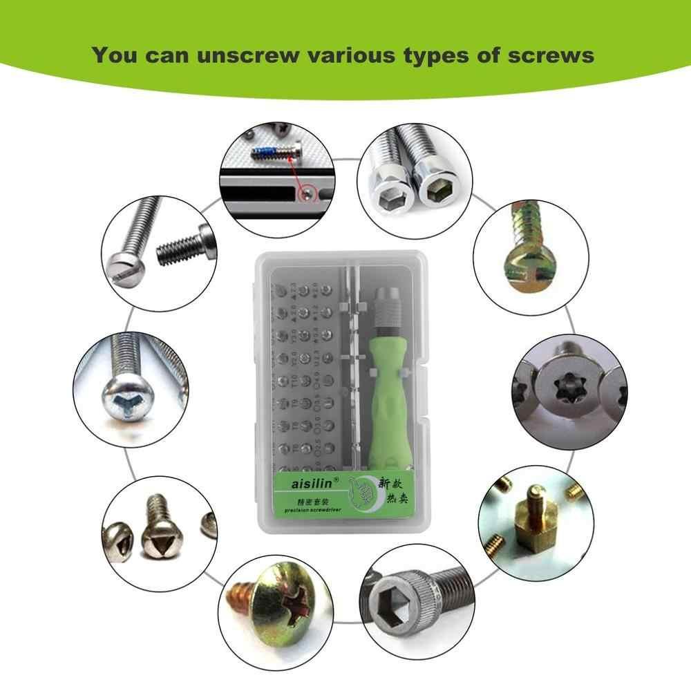 32 en 1 précision Interchangeable magnétique tournevis ensemble Mini tournevis Bits réparation outils Kit ensemble 7389C vente chaude