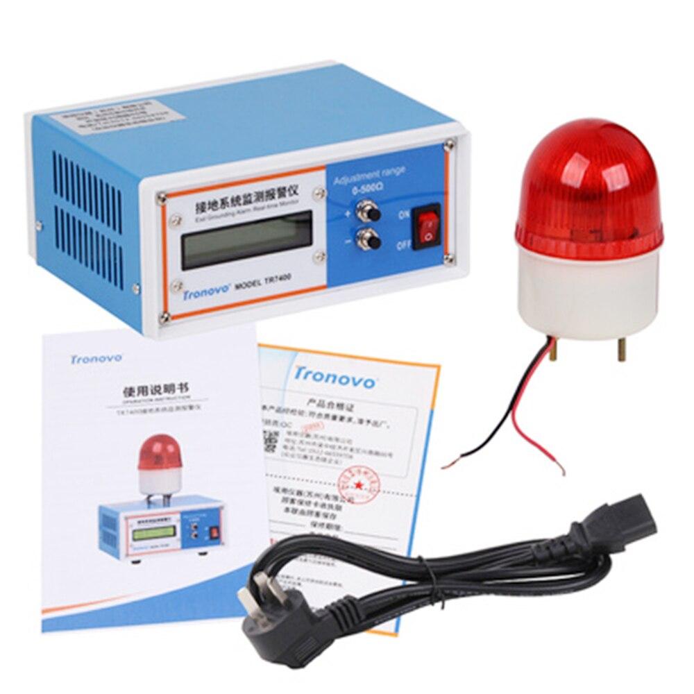 Alarme de surveillance du système de mise à la terre Tronovo TR7400, surveillance en ligne de l'alarme de mise à la terre électrostatique - 4