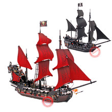 цены New LEPIN 16009 1151pcs Queen Anne's revenge Pirates of the Caribbean Building Blocks Set Compatible with 4195