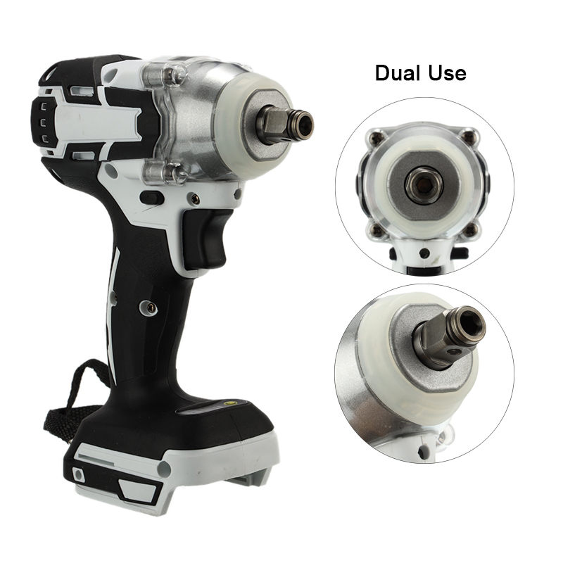 Brushless Electric Hammer Cordless Drill 1280W 18V 240-520NM Torque Adjustable Impact Wrench Power Tool No Charger No Battery
