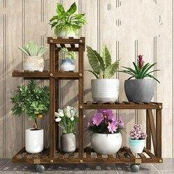 W kwiaty do postawienia na półkę wewnątrz i na zewnątrz wielopoziomowe stojaki balkonowe z litego drewna salon doniczkowa doniczka stojąca