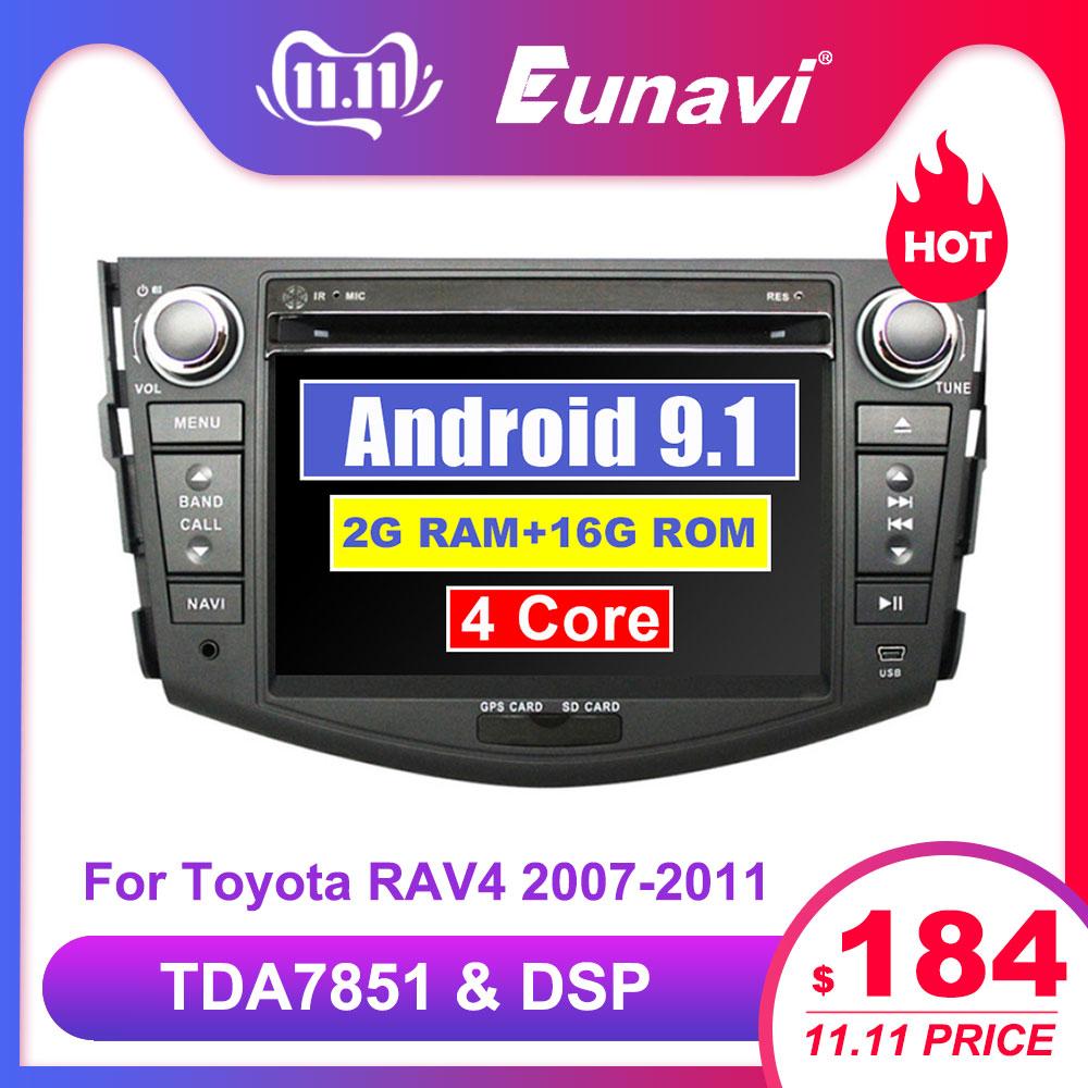 Eunavi Android 9.1 TDA7851 car dvd multimedia player 7'' 2 Din radio GPS Navi for Toyota RAV4 Rav 4 2007 2008 2009 2010 2011-in Car Multimedia Player from Automobiles & Motorcycles
