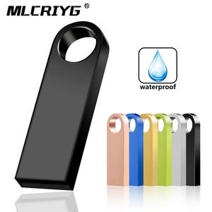 metal cle usb flash drive 32GB 16GB pendrive 128GB 64GB waterproof pen drive 8GB flash usb 2.0 memoria usb stick key Custom logo(China)