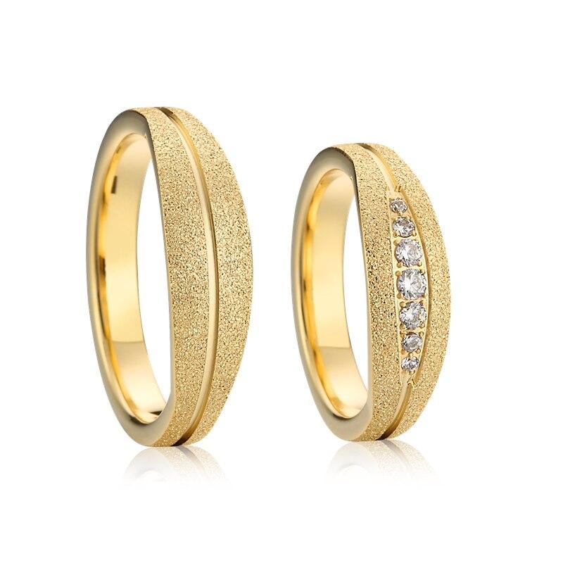 Marque de luxe amour dames vintage bague femmes couleur or finitions bijoux Alliances couple promesse mariage anneaux hommes