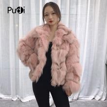 Pudi TX223904 women winter warm Real fox fur coat jacket overcoat lapel collar lady fashion winter warm genuine fur coat outwear pudi a59360 women winter 30