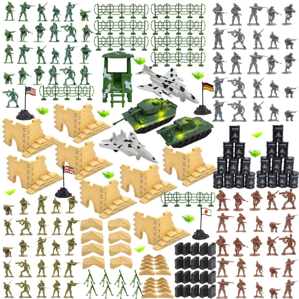 HobbyLane 250pcs/set Military Plastic Soldiers Army Toy Model Action Figures Decor Play Set Model Toys For Children