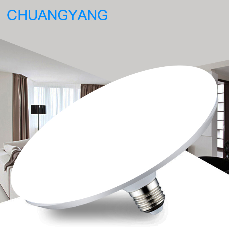 Super Bright 220V E27 Led Bulb Light 20W 40W 50W 60W Lampada Ampoule Bombilla Energy Saving UFO Lamp For Home Living Room