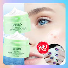 efero 30g Tea Tree Oil Control Acne Removal Cream Dark Spot Treatment Skin Care Whitening Anti-Aging Moisturizing Face Cream
