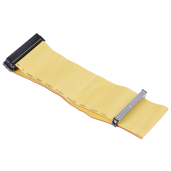 80 Wire 40 Pins PATA/EIDE/IDE Hard Drive DVD Ribbon Cable Yellow 40cm For Dual Devices Telecom Parts image