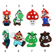 Mini Mario Pen Driver 2.0 Flash Card USB 4GB 8GB 16GB 32GB 64GB Stick High Speed Creative Cute Gift Free Shipping