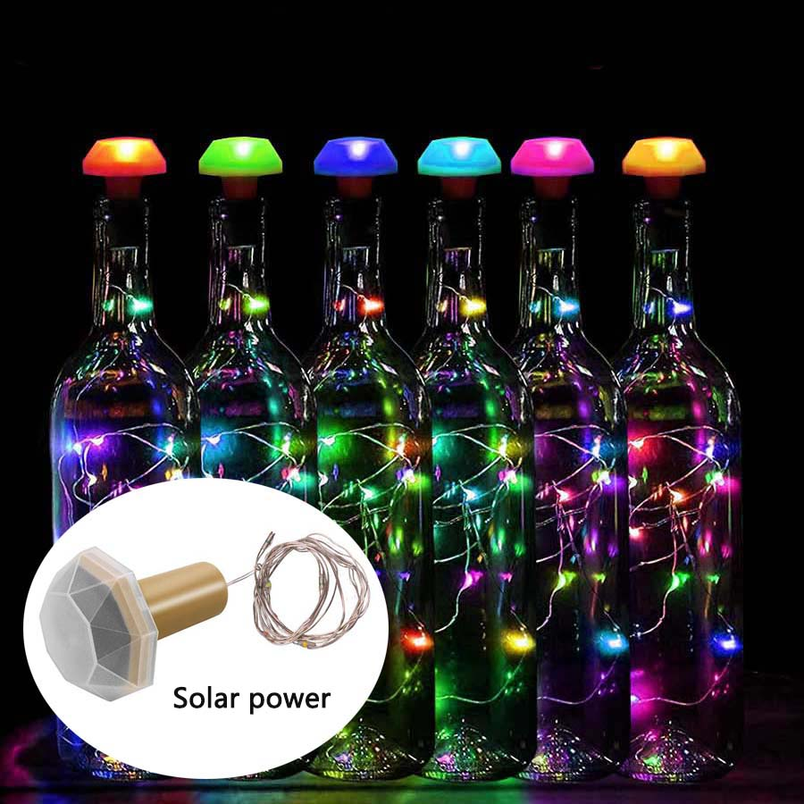 LED String Light 1M Copper Wire Fairy Garland Bottle Stopper For Glass Craft Wedding Christmas New Year Holiday Decoration