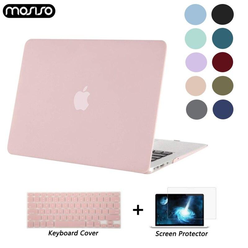 MOSISO Matte/Crystal Caso Laptop Para MacBook Air Retina 11 12 Capa 2018 Nova Pro 13 15 Barra de Toque a1706 A1707 A1989 A1990 A1932