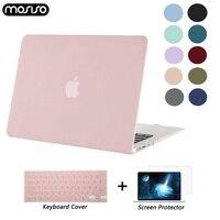 Mosiso fosco/cristal caso portátil para macbook ar 11 retina 12 capa 2018 novo pro 13 15 barra de toque a1706 a1707 a1989 a1990 a1932