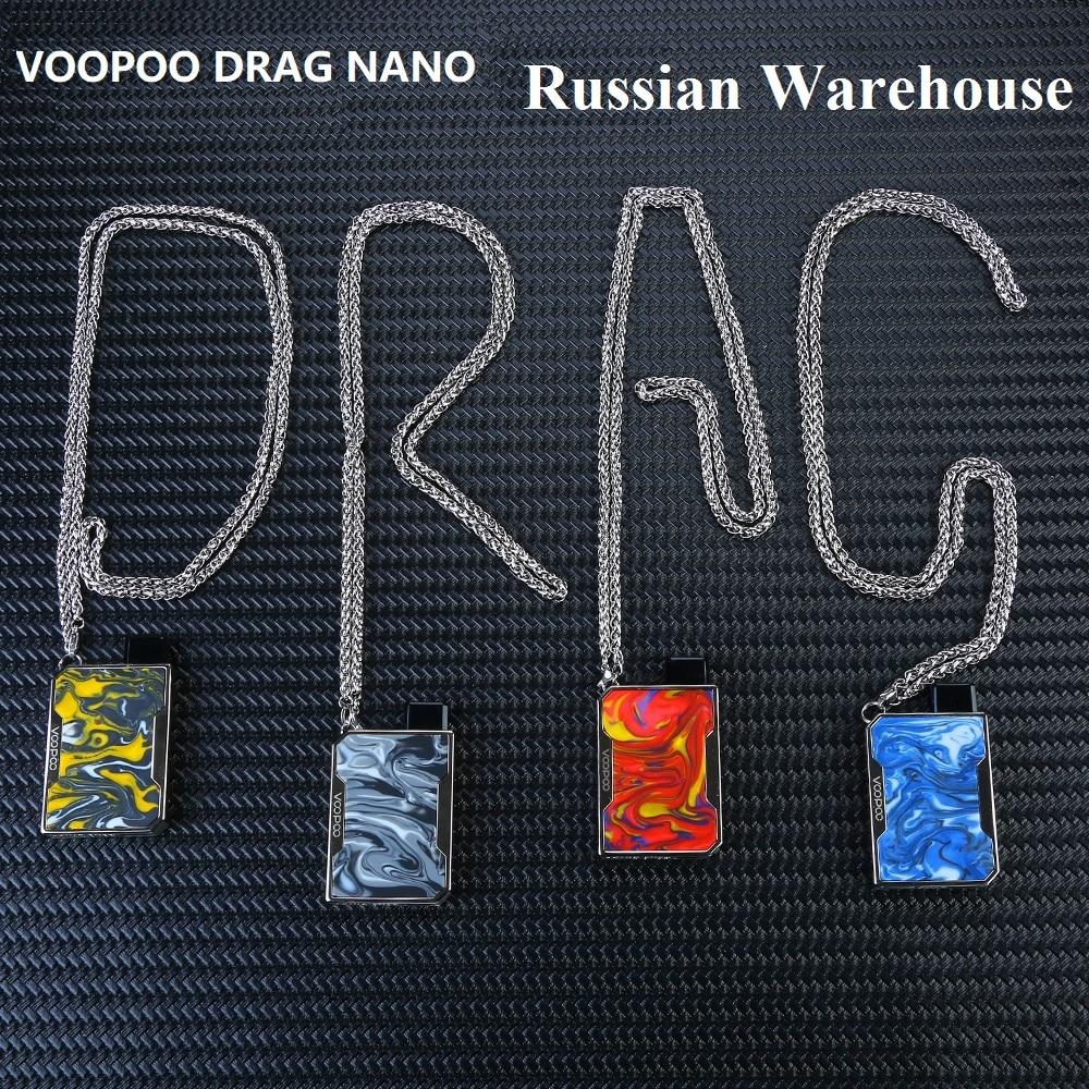Price Down !! VOOPOO DRAG Nano Pod Vape Kit Wi/ 750mAh Battery & 1ml Cartridge & GENE Chip Mod Pod Kit Vs Vinci X/ Renova Zero
