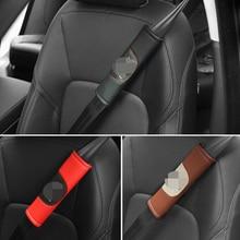 Car styling accessories 2pcs Car Safety Seat Belt Shoulder Pads Cover For Jaguar E-PACE XE F-PACE XFL