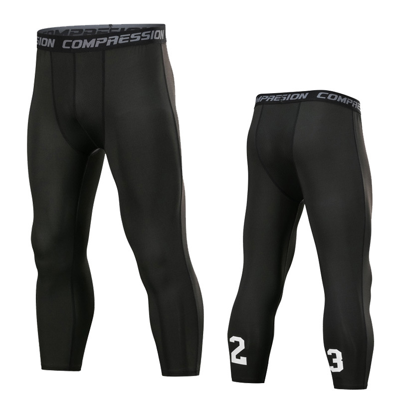 23 Basketball Tight Capri Pants Training Running Fitness Summer Ultra-stretch Breathable Quick-Dry Leggings Shorts