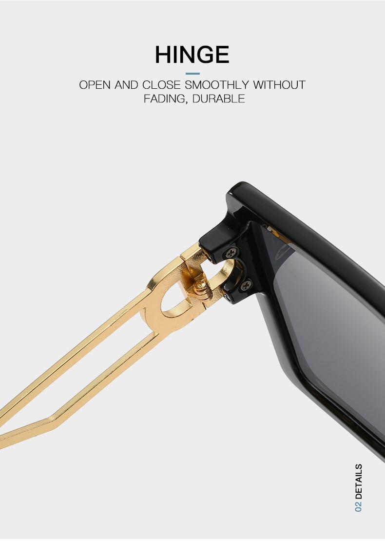 Fashion Sunglass Designer Luxury Brand Square Sunglasses Women Vintage Oversized 2021 trend Female Sun Glasses Shades For Women (4)