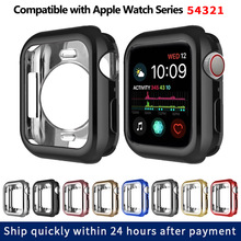 цена на TPU Slim Soft Case for Apple Watch Series 1 2 3 38MM 42MM Plating Protective Cover for iwatch Series 4 5 40MM 44MM