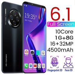 Smartphone de 6,1 pulgadas para Mate33 Pro pantalla grande Android 9,1 Smartphone Hd pantalla 8 núcleos 4500mAh 1GB + 16GB Hd Cámara teléfono móvil
