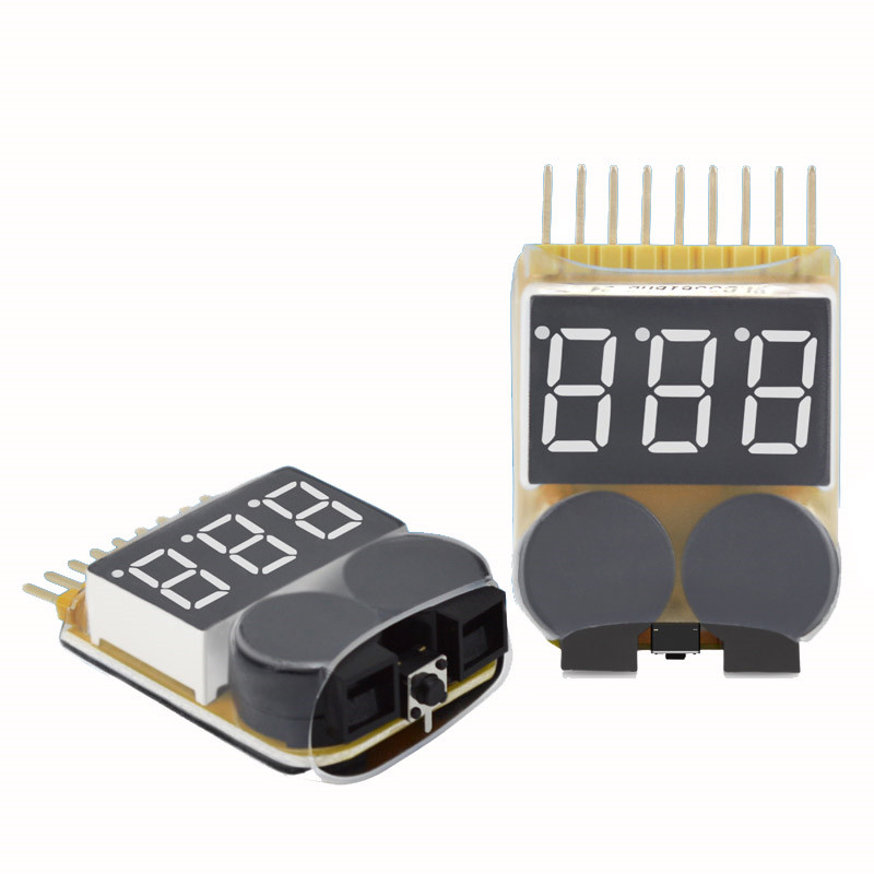 Lipo Battery Low Voltage Tester 1S-8S Buzzer Alarm For RC Toy FPV Racing Drone Spare Parts Rechargeable Charging Accessories