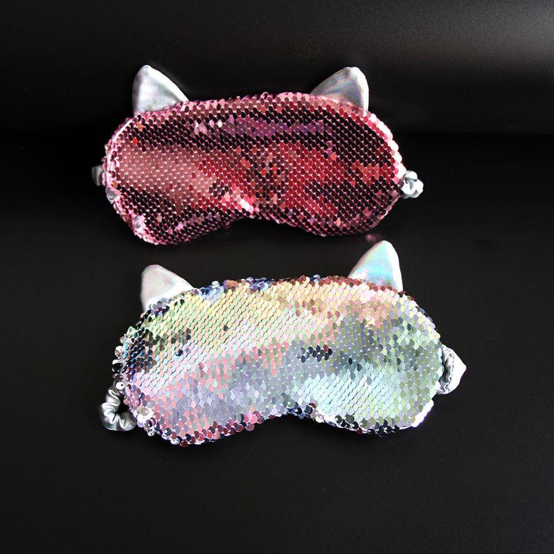 Купить женская милая маска для глаз с кошачьими ушками мультяшная сна