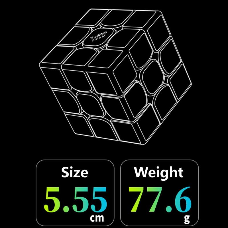 55.5mm tamanho cubo 3x3x3 velocidade cubo magnético
