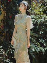 Чонсам в китайском стиле кружевное нежное средней длины ретро
