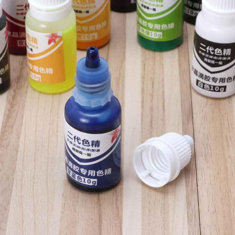 10ml 15 colores epoxi UV resina colorante joyería pigmento líquido baño bomba jabón tinte 72XF