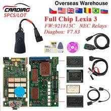Herramienta de diagnóstico automático Lexia 3 PP2000 Chip completo FW 921815C Diagbox V7.83, para Citroen, Peugeot V48/V25, lexia3, OBD2, 5 uds.