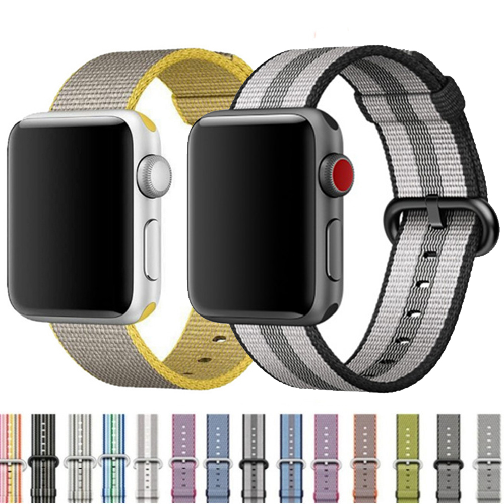 Band For Apple Watch Series 3/2/1 38MM 42MM Nylon Soft Breathable Replacement Strap Sport Loop For Iwatch Series 4 5 40MM 44MM