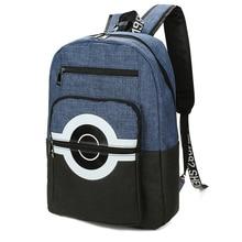 Pokemon Backpacks Children Anime Pikachu Canvas Schoolbag Poke Ball Shoulder Bags Boys Girls BookBags Rucksack Mochila BP0173