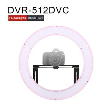 FALCON EYES LED Light Ring 31W Studio/Film/Makeup Fotografia Continuous Lighting Selfie Lamp Youtube Video Live DVR-512DVC Pink