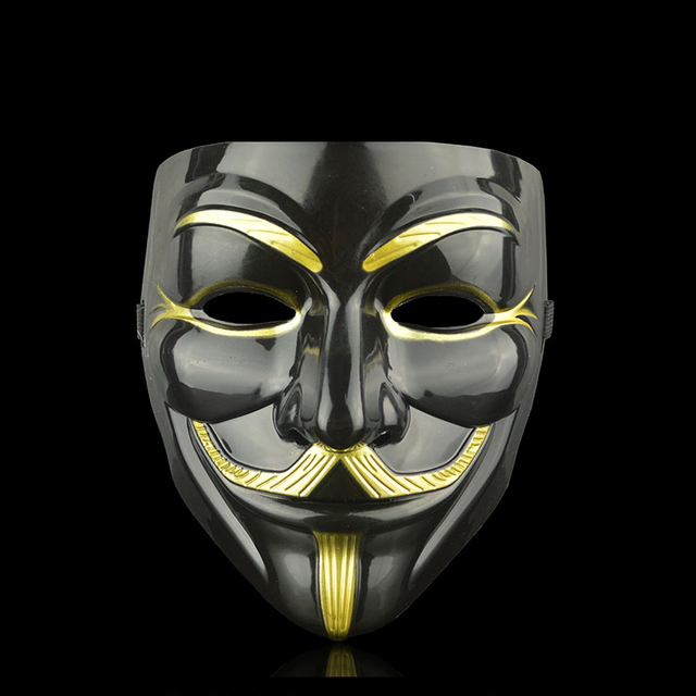 Movie Cosplay V for Vendetta Hacker Mask Anonymous Guy Fawkes Halloween Christmas Party Gift for Adult Kids Film Theme Mask 6